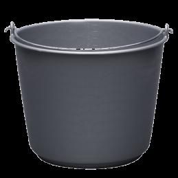 Emmer kunststof grijs 12L
