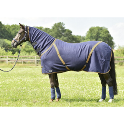 Zweetdeken All-Overcover-Cross navy