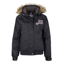 Dames Winter ruiterjas Timber zwart