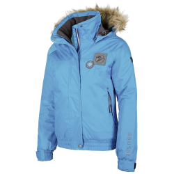 Dames Winter ruiterjas Timber blauw