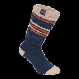 Fold over sokken dames blauw