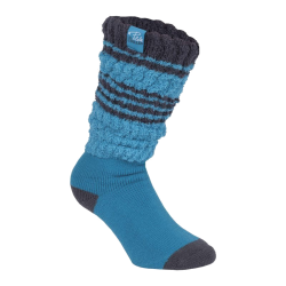 Fold over sokken dames turquoise
