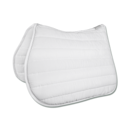 Dressuur zadeldek Torino Wit / Zilver