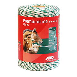 AKO PremiumLine schrikdraad wit/groen 250m