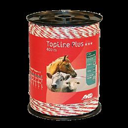 AKO TopLine Plus schrikdraad wit/rood 400m