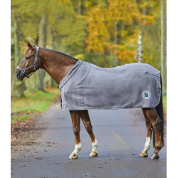 Zweetdeken fleece Alcantara grijs