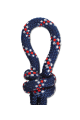 Knoophalster blauw / wit / rood