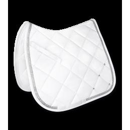 Dressuur zadeldek Competition wit / zilver