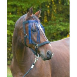 Vliegenfrontriem nylon marine maat pony
