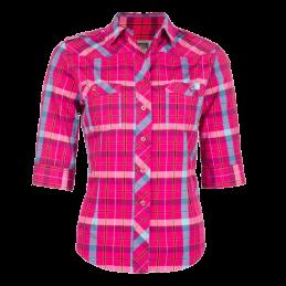 Dames werkoverhemd Lady Line korte mouw roze