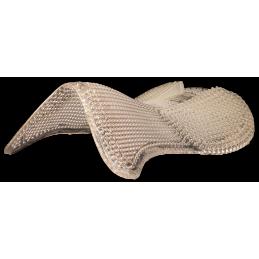 Gelpad zadelonderlegger met verhoging achter op rug