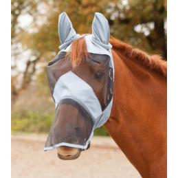 Vliegenmasker met oren- en neusbeschermer blauw