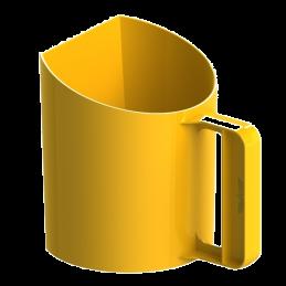 Voerschep 1kg Bekermodel Geel