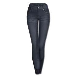 Paardrijbroek Denim Hope Kind Donkerblauw